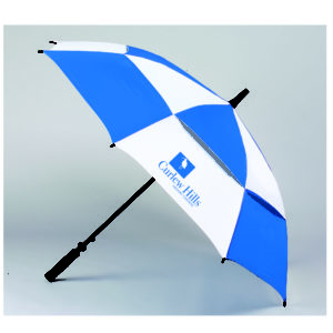 62″ Double Canopy Vented Fiberglass Golf Umbrella