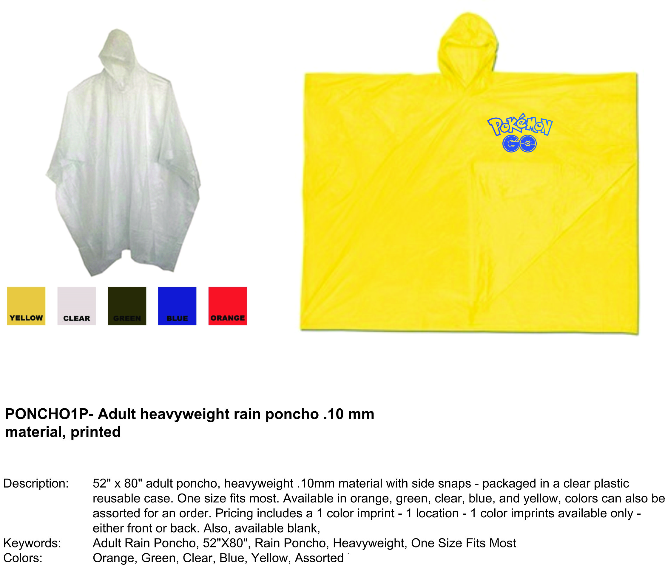 Personalized Ponchos