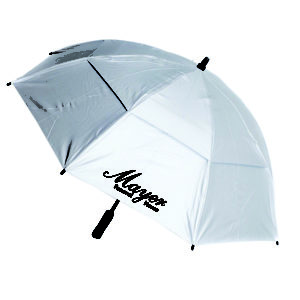 60 Inch Silver Vented Golf Umbrella